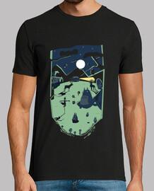 ghibli forest- t-shirt da uomo