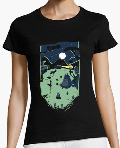 Ghibli forest- woman t-shirt