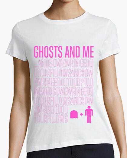 Camiseta Ghosts and Me Rosa Fuerte