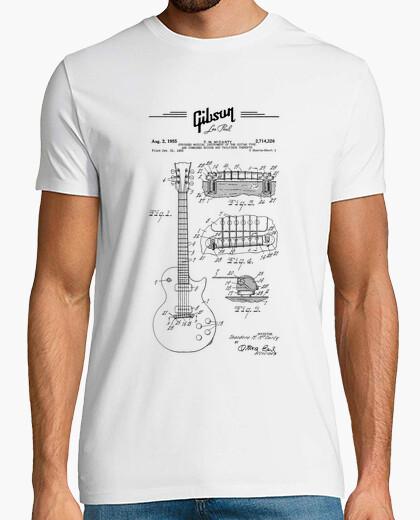 Camiseta gibson les paul blueprint - guitarra el