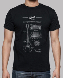 gibson les paul guitar patent drawing 1