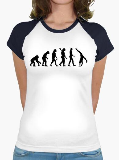 Camiseta gimnasia evolución mujer niña