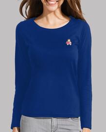 GINNA-Mujer, manga larga, azul eléctrico