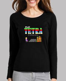 gioca tetra 01. t-shirt donna manica lunga