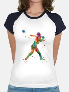 giocatore di softball ragazza
