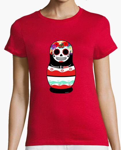 T-shirt giorno matryoshka donna los morta