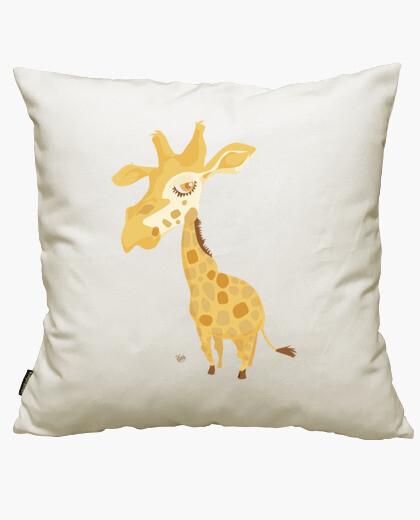 Housse de coussin giraffe grosse tête