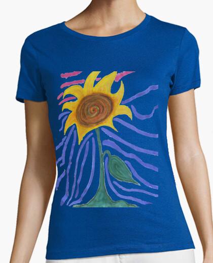 T-shirt girasole dipinto
