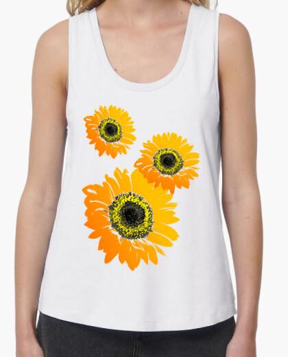 Camiseta Girasoles composición floral