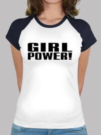 Girl Power! negro femenina
