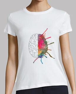 girl t-shirt brain color
