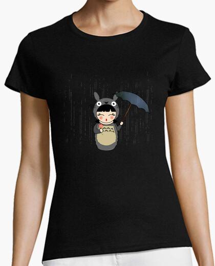 Girl t-shirt kokeshi totoro