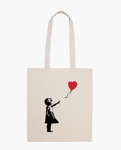 Girl with balloon bag