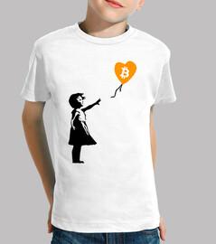 Girl with balloon Bitcoin