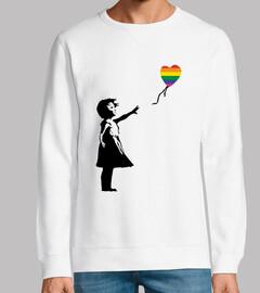 Girl with balloon LGTB (Sudadera)