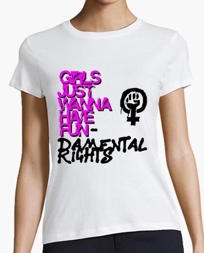 Camiseta Girls Just Wanna Have Fundamental Rights