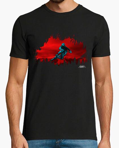 T-shirt giro in rosso