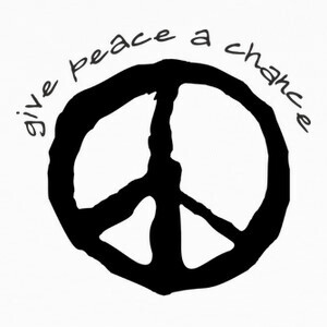 Camisetas Give peace a chance
