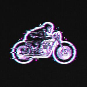 Tee-shirts glitch biker