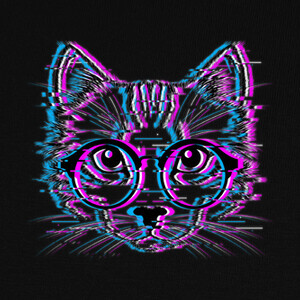 Tee-shirts Glitch Cat