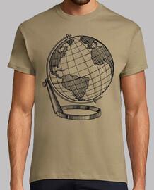globe monde carte monde noir
