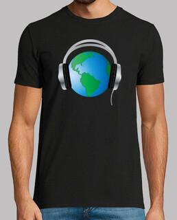 globe terrestre avec un casque