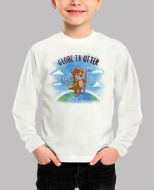 globe trotter - camisa para niños