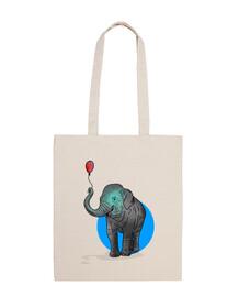 Globo Elefante - Bolsa tela 100% algodón