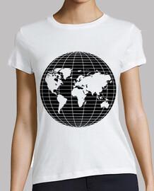 Globo Terraqueo Mapa Mundi Negro