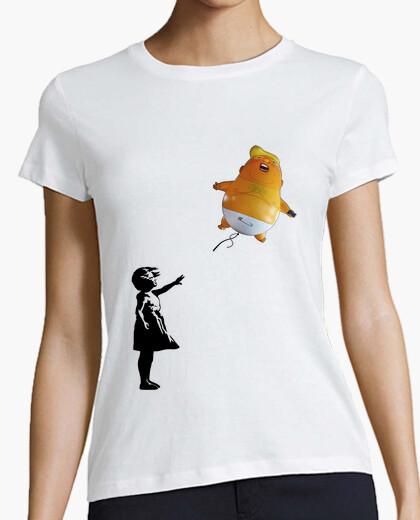 Camiseta globo triunfo bebé chica banksy - prote