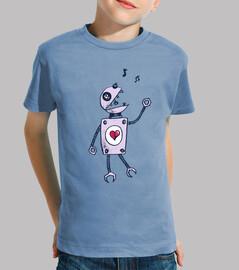 glücklich singender roboter