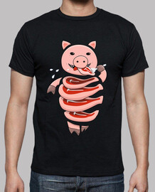 gluttonous cannibal pig