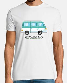 go to a new life men's tshirt