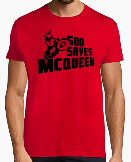 God saves mcqueen t-shirt