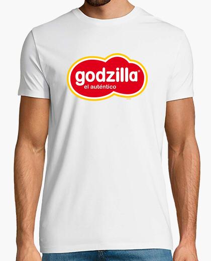 Godzilla el auténtico camiseta chico