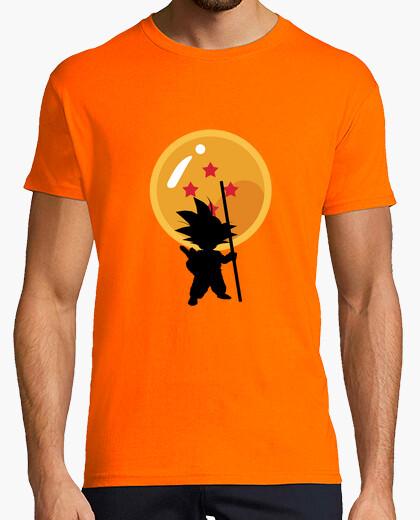 T-shirt Goku con sfere del drago