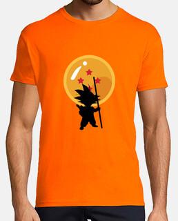 Goku con sfere del drago