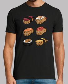 gold dog endoodle sushi nigiri