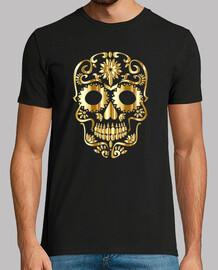 Gold Sugar Skull Silhouette Sin anteced