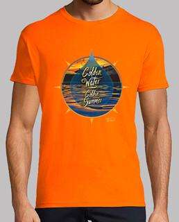 golden water, golden summer - t shirt - t shirt h