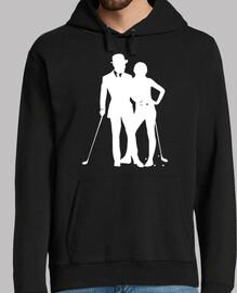 Golf 1 blanc pour tee shirt noir