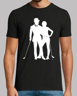 golf 1 für weißes tee shirt - tee shirt schwarz