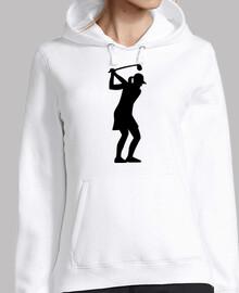 golf mujer niña