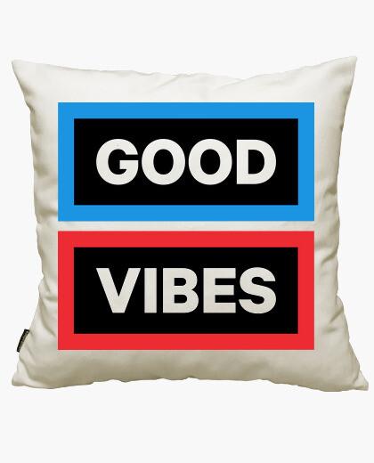 Funda cojín Good Vibes (oscura)