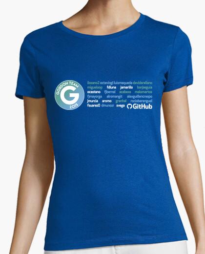 Camiseta Gordon mujer, todos los nombres, gris