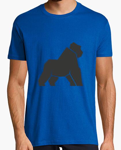 T-shirt gorilla geometrica