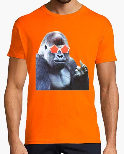 Camiseta Gorilla middlefinger Street Art by Dashi