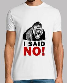 gorille - j'ai dit non!