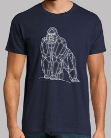 gorille géométrique h