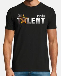 Got Talent España - Hombre, manga corta, negra, calidad extra